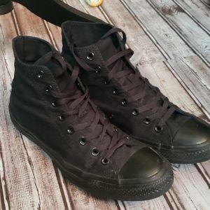 Converse All Star high tops black  9.5 w 11.5